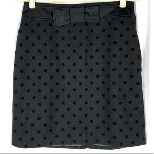 LOFT Black with Black polka dots skirt
